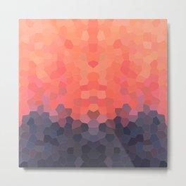 Geometric Abstract Mountain Sunset Metal Print