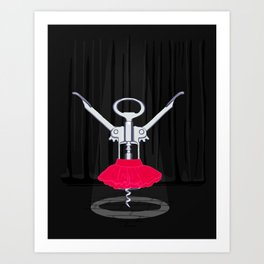 Dancer Corkscrew Art Print