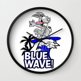Blue Wave Design for Liberal Democrat 2018 Voters Wall Clock