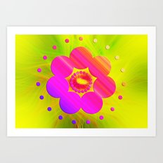 Mandala Pink Daisy Art Print