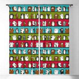 Lucky Beckoning Cats with Pattern Blackout Curtain