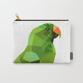 Eclectus parrot Geometric bird art Carry-All Pouch