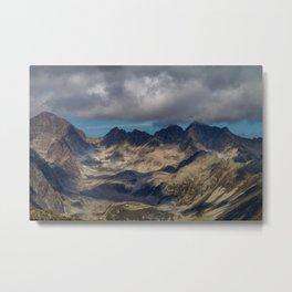 Severe mountains Metal Print