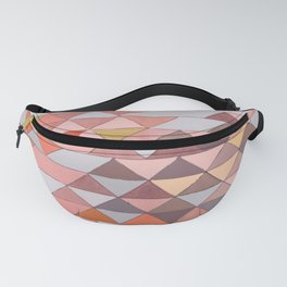 Triangle Pattern no.5 Gold, Pink and Brown Fanny Pack