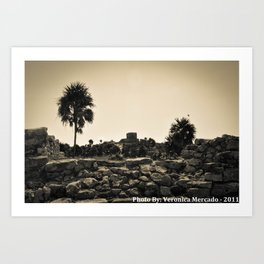 The ruins at Tulum Art Print