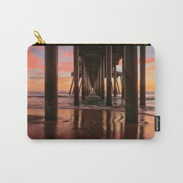 HB Sunsets  1/29/16  ~  Sunset At The Huntington Beach Pier Carry-All Pouch