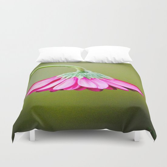 Flower | Flowers | Pink Green Drooping Flower Duvet Cover