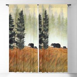 Roaming Bears In West Virginia Blackout Curtain