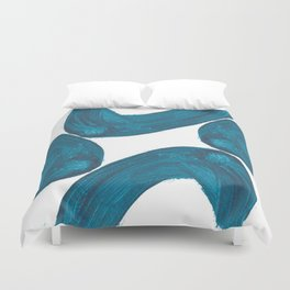 Nikee comma, Abstract, Blue Duck Duvet Cover