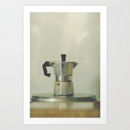 Italian moka pot. Art Print