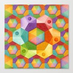 Rainbow Hexagons Canvas Print