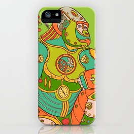 Gorilla, cool wall art for kids and adults alike iPhone Case