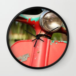 The old scooter - Bambi Wall Clock