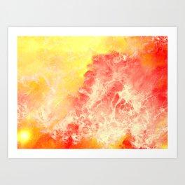 Lovers on the Sun Art Print