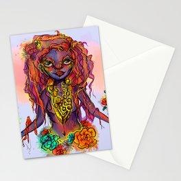 Flower Power Girl Stationery Cards