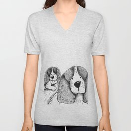 Velcro Dog Unisex V-Neck