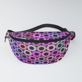 Pink Purple Sprockets Fanny Pack