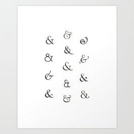 Ampersands Art Print