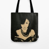 cassandra jean Tote Bags featuring Cassandra by Emmy Wong