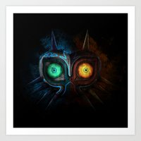 majora Art Prints featuring Majora Mask  by DavinciArt