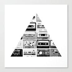 ▲ Triangle Cassettes △ Canvas Print