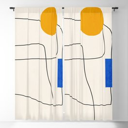 Minimal Geometric Shapes 67 Blackout Curtain