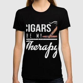 Cigars Are My Therapy Smoker T-shirt