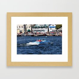 Summer Boating Framed Art Print