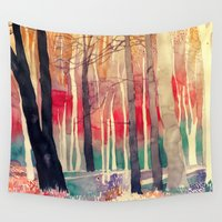 woods Wall Tapestries featuring Woods by takmaj