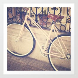Pierina's Pink Bicycle  - Retro and Vintage Photography Art Print
