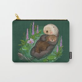 Sea Otter Mother & Baby Carry-All Pouch