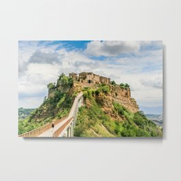 Village in the clouds Metal Print