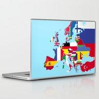 europe Laptop & iPad Skins featuring Europe flags by SebinLondon