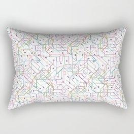 London Subway Rectangular Pillow