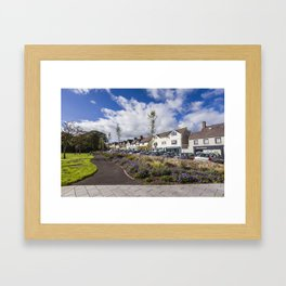 Greystones landscape in Ireland Framed Art Print