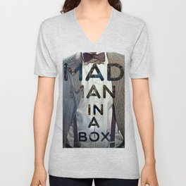 Mad Man in a Box Unisex V-Neck