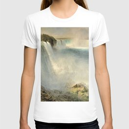 Niagara Falls from the American Side by Frederic Irwin Church T-shirt