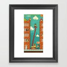 Super Mario - Mushroom Recession Framed Art Print