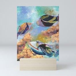 Humuhumu Tropical Fish 3 Mini Art Print