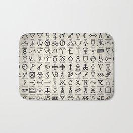 Symbols of Alchemists Bath Mat