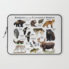 Animals of the Canadian Shield Laptop Sleeve