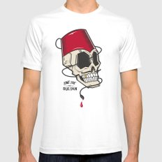 Long Live The Sultan White MEDIUM Mens Fitted Tee