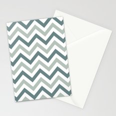 Classic Chevron in Shades of Gray Stationery Cards