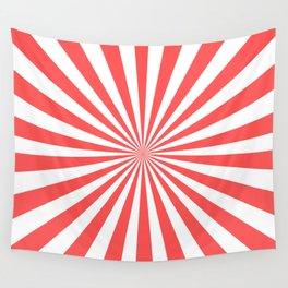 Starburst (Red & White Pattern) Wall Tapestry