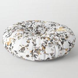 Gold Speckled Terrazzo Floor Pillow