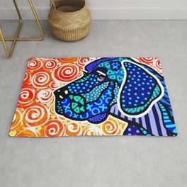 Weimaraner Dog Puppy Pet Labrador Big Dogs Gift Owner Lover Great Dane Jackie Carpenter Designer FUN Rug