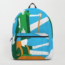 Father and son in nature Backpack