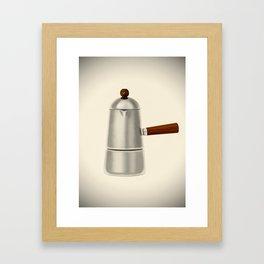 Carmencita. Vintage Italian coffee maker Framed Art Print