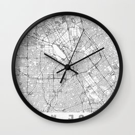 San Jose Map Line Wall Clock