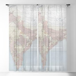 Geography And Geology Of The Himalayas - 1933 Sheer Curtain